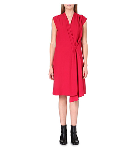MAISON MARTIN MARGIELA Tie-detail wrap dress (Raspberry