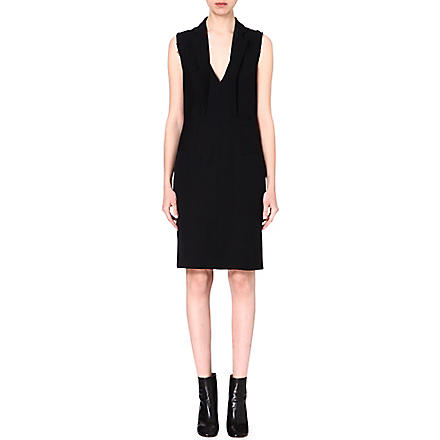 MAISON MARTIN MARGIELA Collar-detail crepe dress (Black