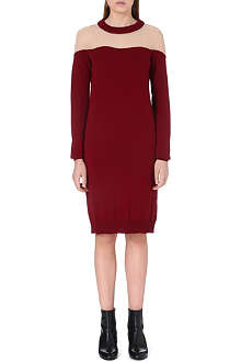 MAISON MARTIN MARGIELA Sheer-panel knitted dress