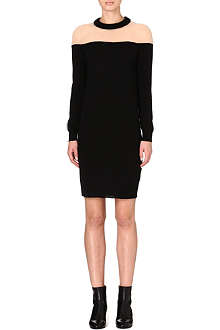 MAISON MARTIN MARGIELA Contrast wool-blend dress