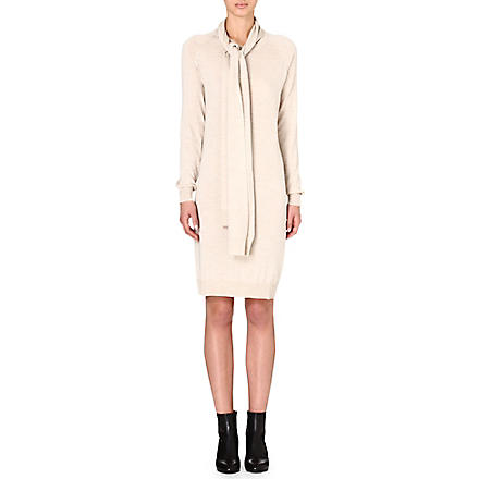 MAISON MARTIN MARGIELA Knitted cape dress (Oat