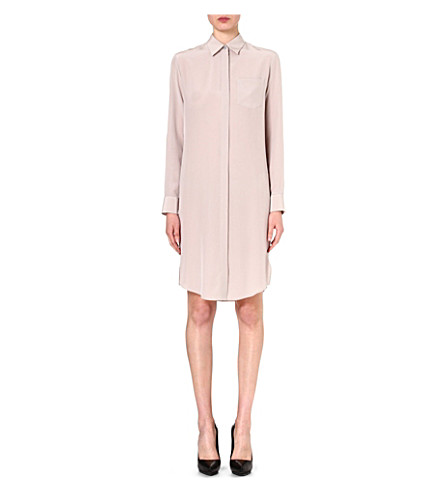 MAISON MARTIN MARGIELA Silk shirt dress (Pearl