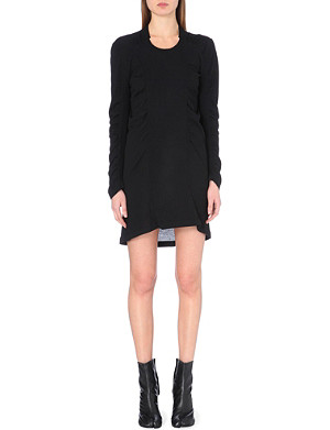 MAISON MARTIN MARGIELA Ruched long-sleeve knitted dress