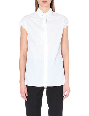 MAISON MARTIN MARGIELA Sleeveless silk-insert shirt