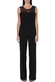 MAISON MARTIN MARGIELA Sheer-panel jumpsuit