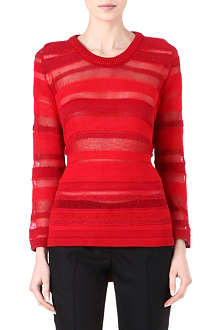 MAISON MARTIN MARGIELA Sheer-panel knitted jumper