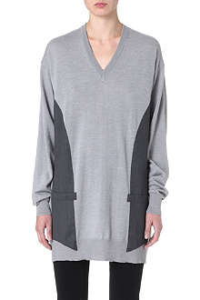 MAISON MARTIN MARGIELA Satin-back knitted jumper