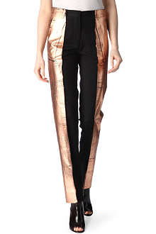 MAISON MARTIN MARGIELA Copper-coated trousers