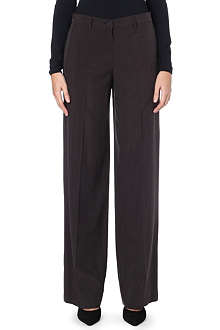 MAISON MARTIN MARGIELA Wide-leg silk trousers