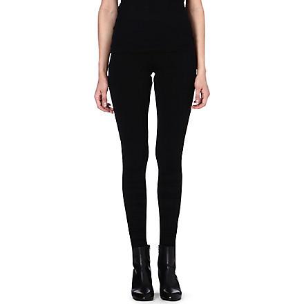 MAISON MARTIN MARGIELA Ruched jersey leggings (Black