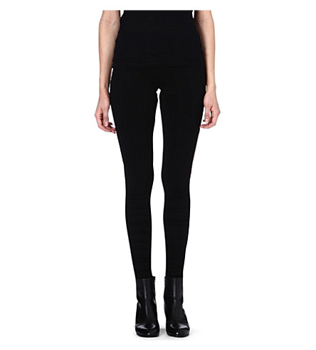 MAISON MARTIN MARGIELA Ruched jersey leggings (Black