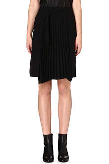 MAISON MARTIN MARGIELA Wool-blend pleated skirt