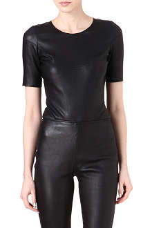 MAISON MARTIN MARGIELA Leather and jersey body