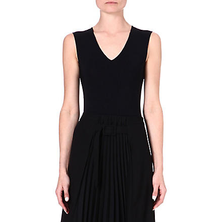 MAISON MARTIN MARGIELA V-neck body (Black