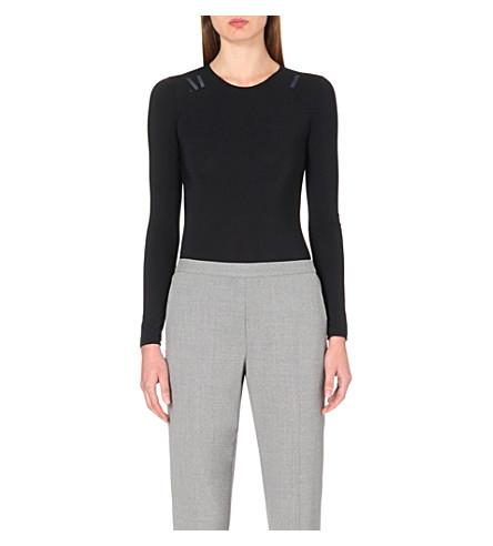 MAISON MARGIELA Long-sleeved stretch-jersey body (Black