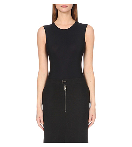 MAISON MARGIELA Sleeveless jersey body (Black