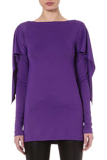 MAISON MARTIN MARGIELA Cape-back jersey top
