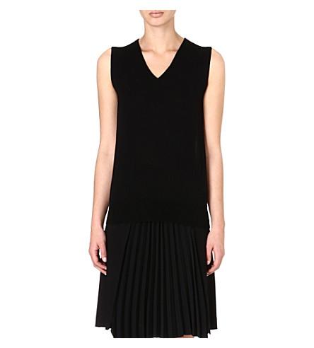 MAISON MARTIN MARGIELA Contrast-back jumper (Black