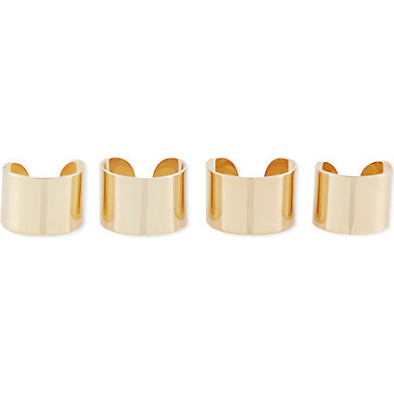 MAISON MARTIN MARGIELA Set of four rings (Gold