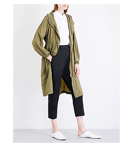 JIL SANDER Download shell parka coat (Khaki