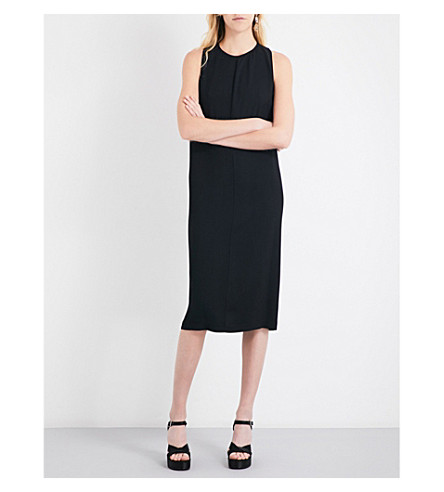 JIL SANDER Racerback crepe dress (Black