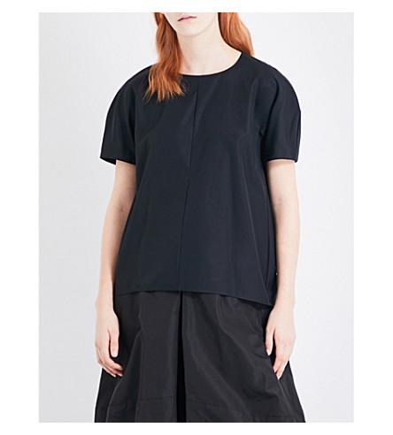 JIL SANDER Domus cotton top (Black