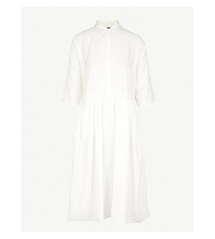 JIL SANDER Fraseggio silk-blend midi dress (Natura