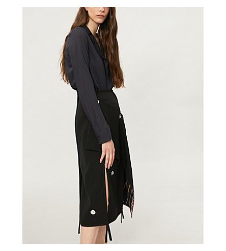 JIL SANDER Revere-collar wool shirt (Dark+blue