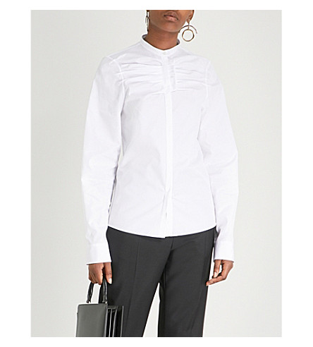 JIL SANDER Frida cotton-poplin shirt (White