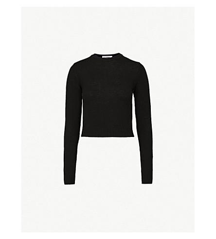 JIL SANDER Fine-knit fleece-wool jumper (Black