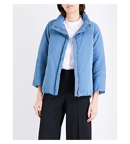 JIL SANDER Cropped shell jacket (Medium+blue