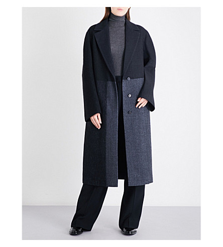 JIL SANDER Dallas oversized herringbone wool-blend coat (Black