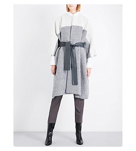 JIL SANDER Delhi batwing-sleeve wool and alpaca-blend coat (Medium+grey