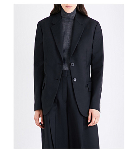 JIL SANDER Delon wool and mohair-blend jacket (Black