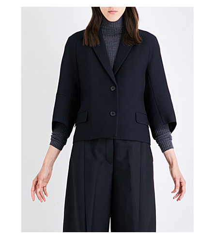 JIL SANDER Diaz wool and silk-blend jacket (Black