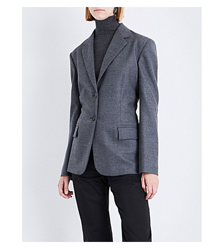 JIL SANDER Delon single-breasted stretch-wool jacket (Medium