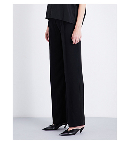JIL SANDER Dustin straight crepe trousers (Black