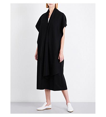 JIL SANDER Duchessa cotton wrap dress (Black