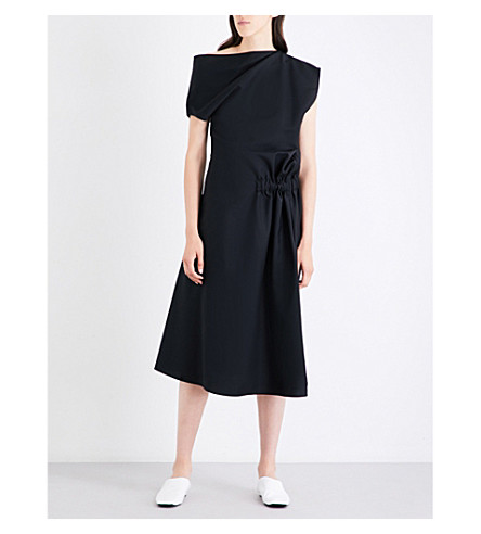 JIL SANDER Darsena wool and mohair-blend dress (Black