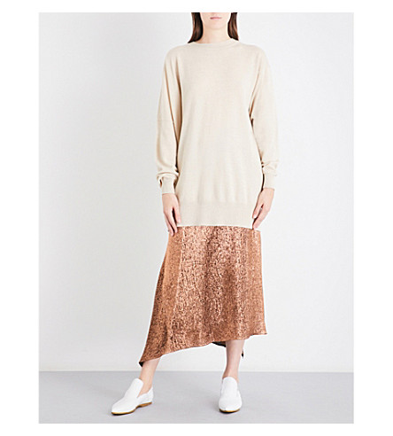 JIL SANDER Oversized wool and cashmere-blend sweater (Light