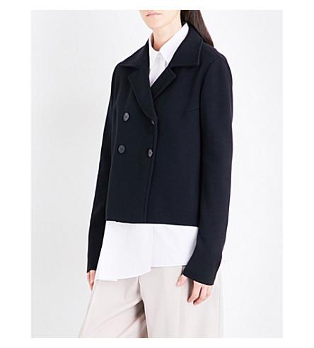 JIL SANDER Double-breasted wool jacket (Black