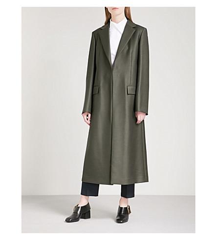 JIL SANDER Europe wool coat (Dark+green