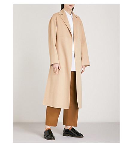 JIL SANDER Draped cashmere coat (Medium+beige