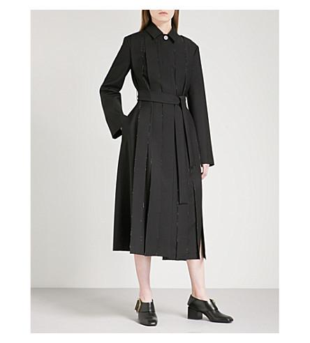 JIL SANDER Egypt wool and mohair-blend coat (Black