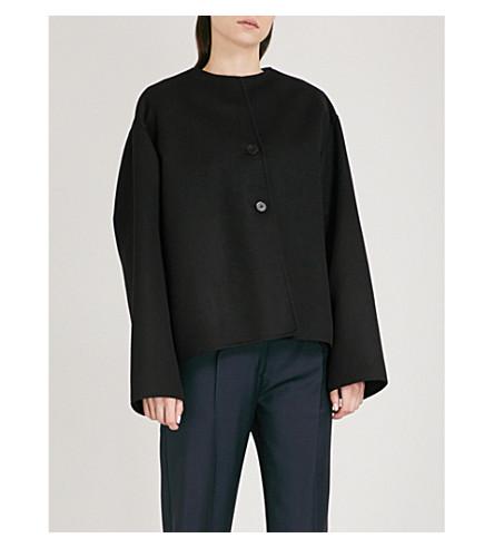 JIL SANDER Oversized cashmere jacket (Black