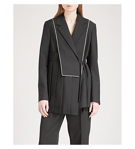 JIL SANDER Elton wool and mohair-blend wrap jacket (Black
