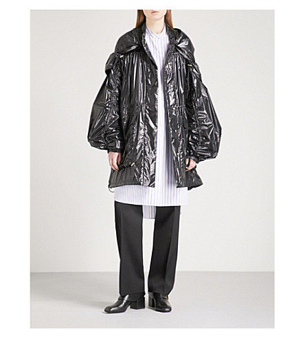 JIL SANDER Evian hooded PVC coat (Black