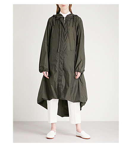 JIL SANDER Evolution hooded shell jacket (Dark+green