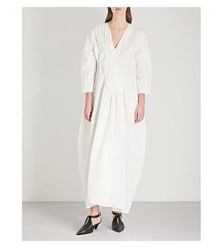 JIL SANDER Etoiles cotton midi dress (Natural