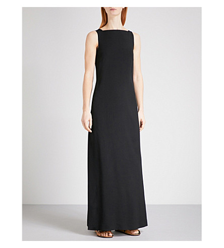 JIL SANDER Sleeveless crepe dress (Black